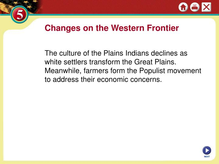 changes on western frontier chapter 13 Some major issues leading up to and following civil war 154-155 union in peril 156-165 divisive politics of slavery 166-167 dred scott v sanford 1857.