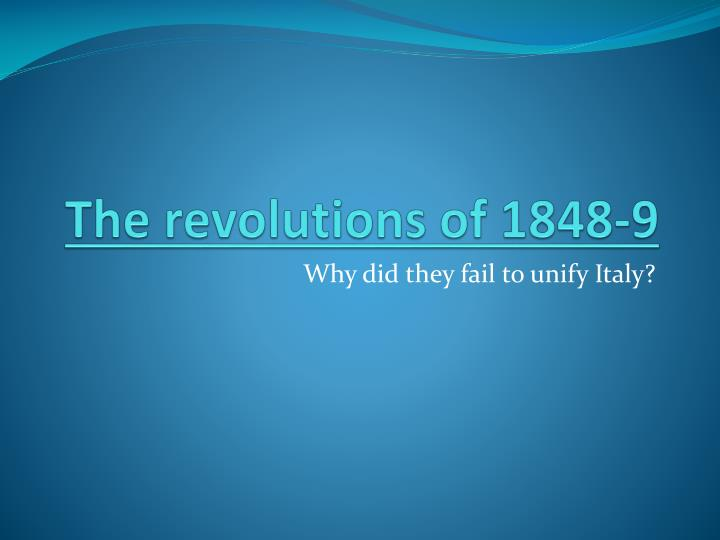 the revolutions of 1848 9 n.