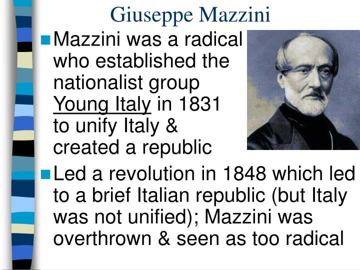 why was italy not unified after the Italy—which had become a unified nation only as recently as 1859—was, like russia, not yet a fully industrialized power it was certainly not prepared for large-scale warfare, and although it.