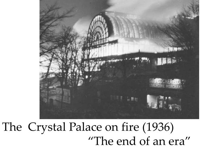 The  Crystal Palace on fire (1936)