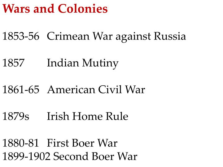 Wars and Colonies