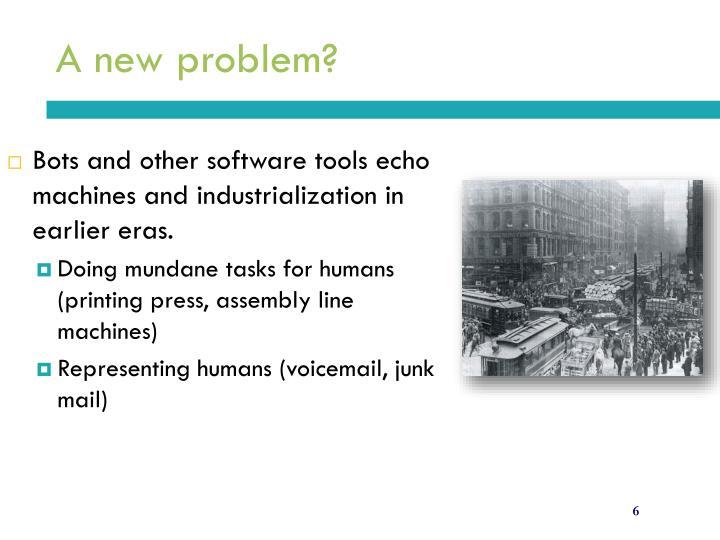 A new problem?
