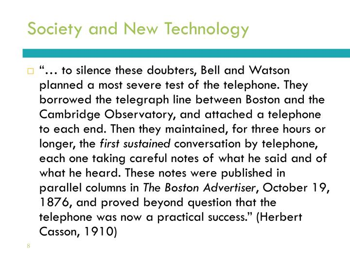 Society and New Technology