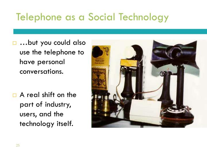 Telephone as a Social Technology