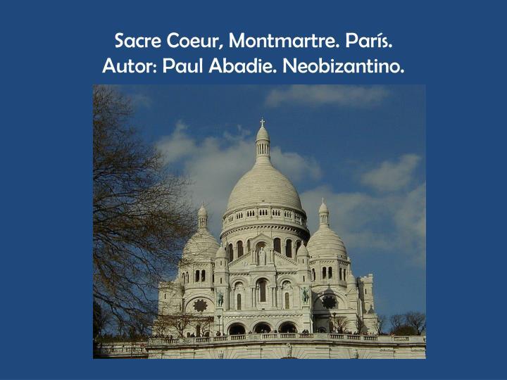 Sacre Coeur, Montmartre. París.