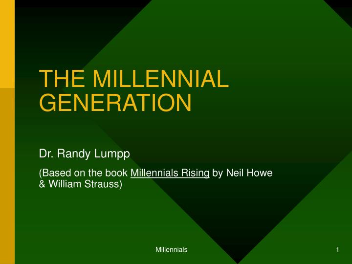 an examination of the work expectation of the millennial generation and the ways to increase their p Managing the millennials: employee retention strategies for generation y millennial traits and their motives new generation, great expectations:.