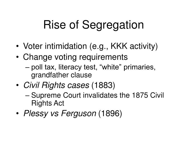 Rise of Segregation