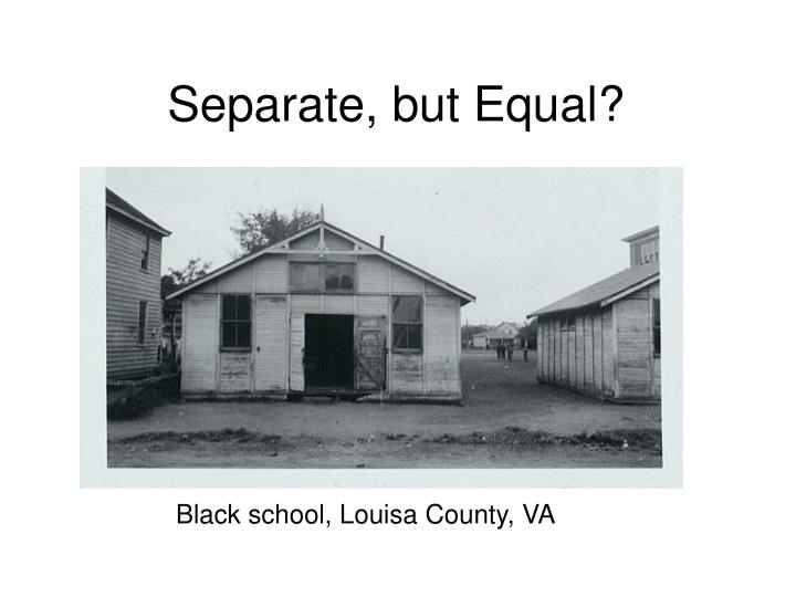 Separate, but Equal?