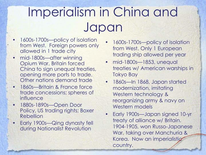 imperialism china and japan essay Regents in global history and geography surplus of porcelain from japan (4) imperialism in china → start of world war ii.