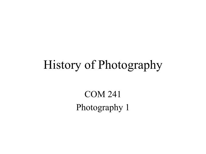 history of photography n.