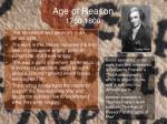 age of reason 1750 1800