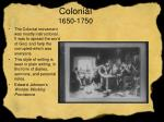 colonial 1650 1750