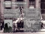 harlem renaissance 1920s