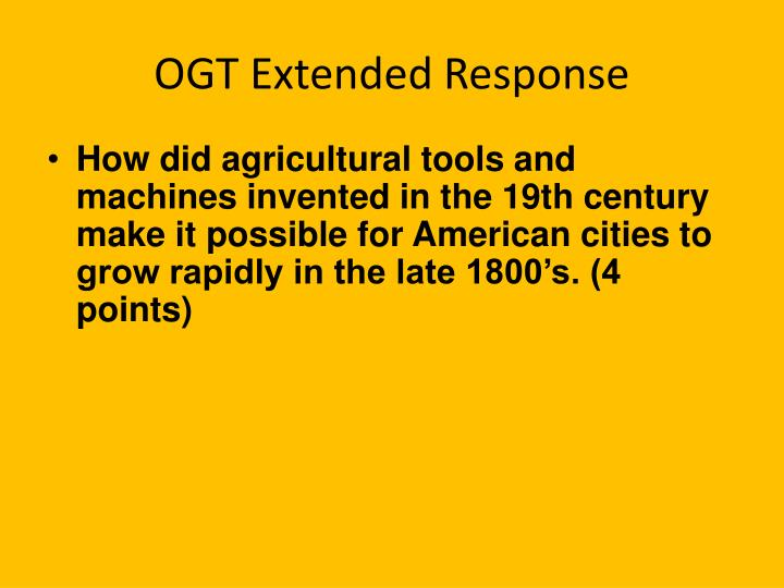 OGT Extended Response