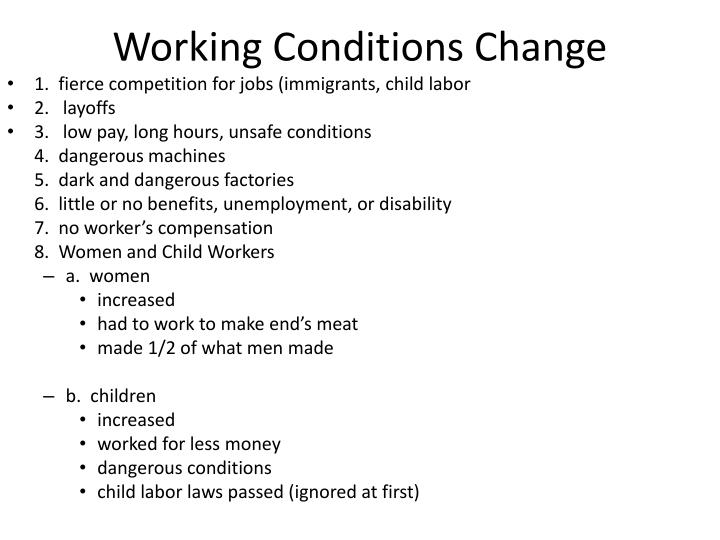 Working Conditions Change