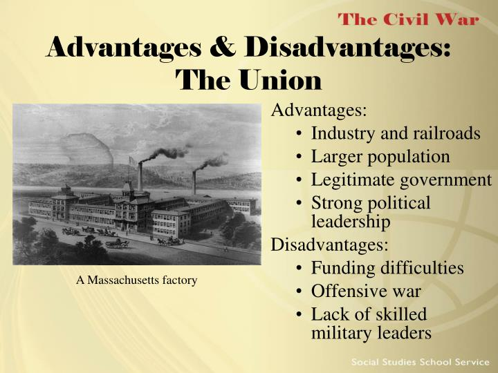 union disadvantages civil war