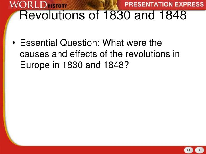 revolutions of 1830 and 1848 n.