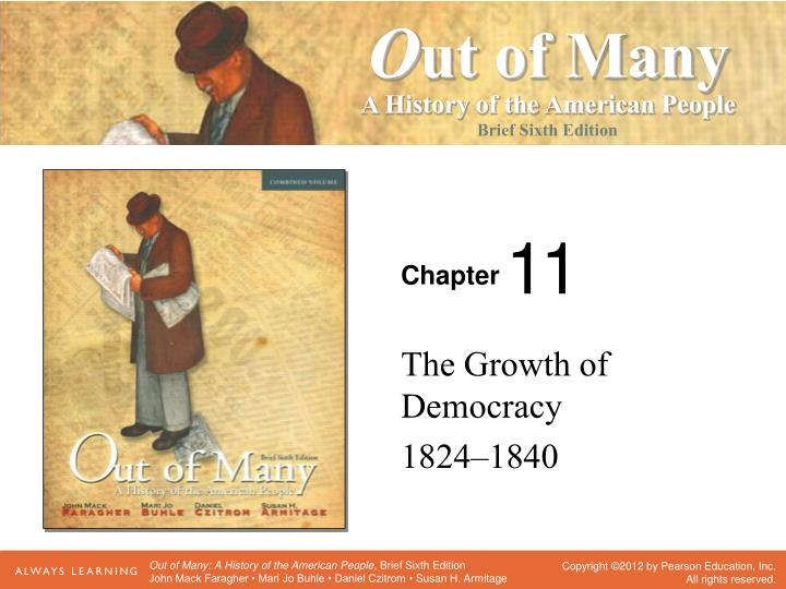 the growth of democracy 1824 1840 n.