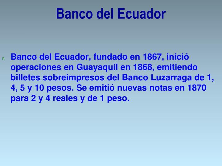 Banco del Ecuador