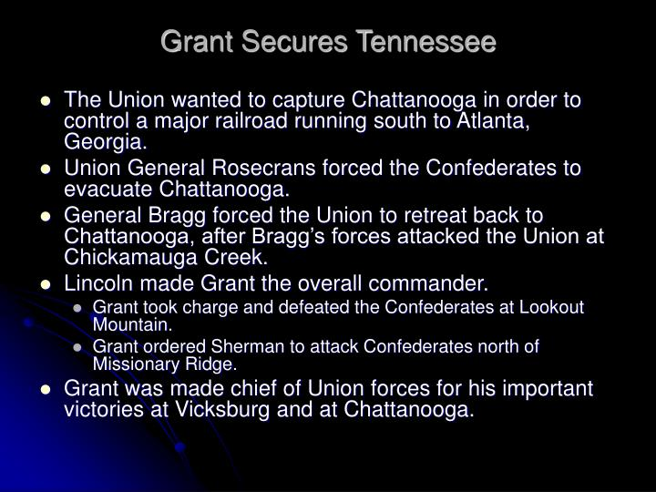 Grant Secures Tennessee