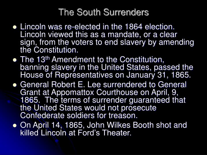 The South Surrenders