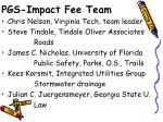 pgs impact fee team