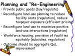planning and re engineering