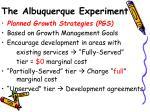 the albuquerque experiment