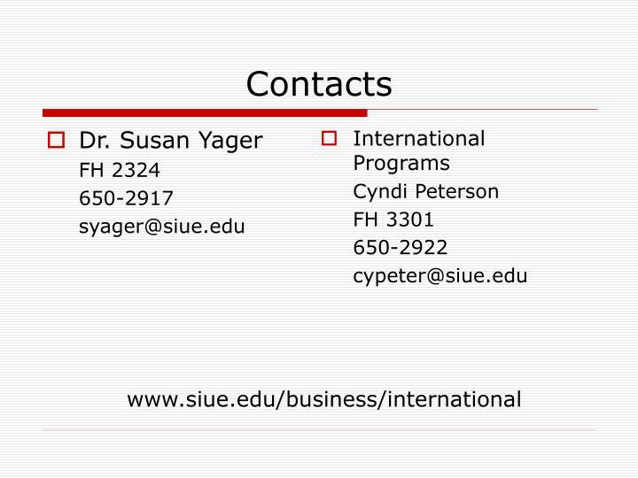Dr. Susan Yager