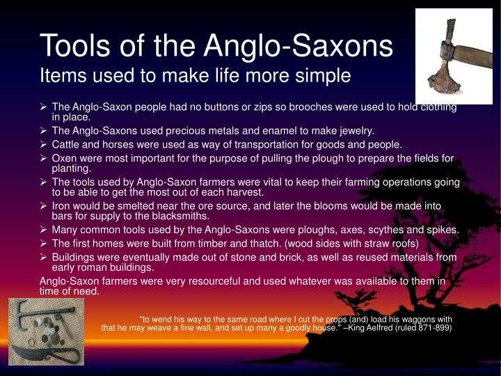 Tools of the Anglo-Saxons