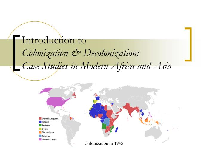 africa in de colonization essay