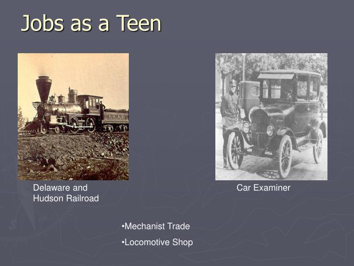 Jobs as a Teen