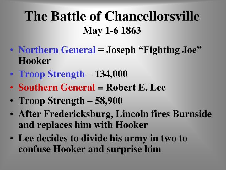 the battle of chancellorsville may 1 6 1863 n.