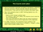 the courts and labor