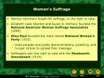 women s suffrage