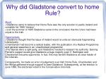why did gladstone convert to home rule