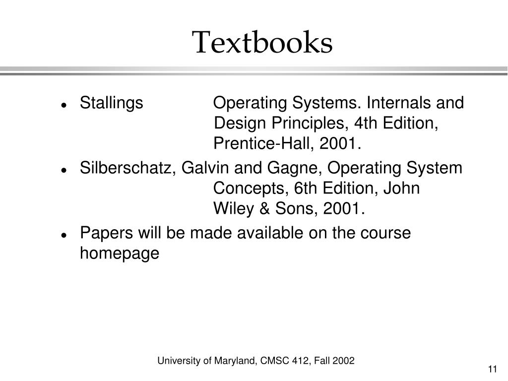 Ppt Cmsc 412 Operating Systems Fall 2002 Powerpoint Presentation Free Download Id 5841384