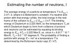 estimating the number of neutrons i
