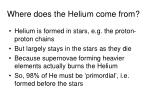 where does the helium come from