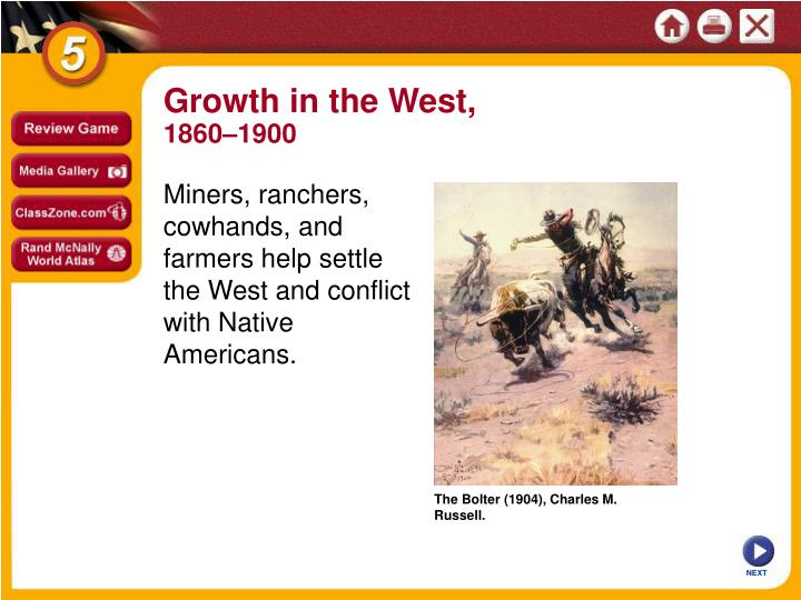 Growth in the West,