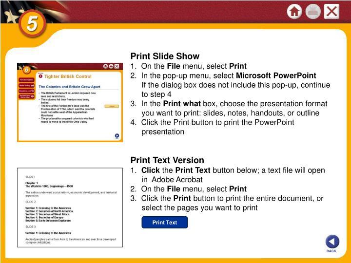 Print Slide Show