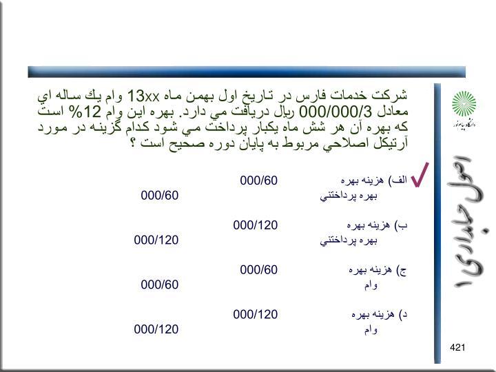 شركت خدمات فارس در تاريخ اول بهمن ماه