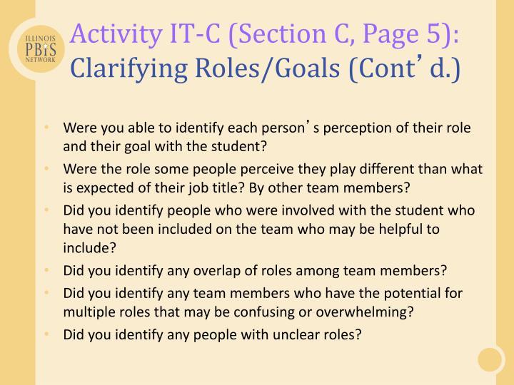 Activity IT-C (Section C, Page 5):