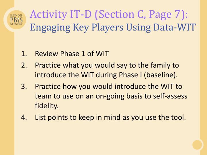 Activity IT-D (Section C, Page 7):