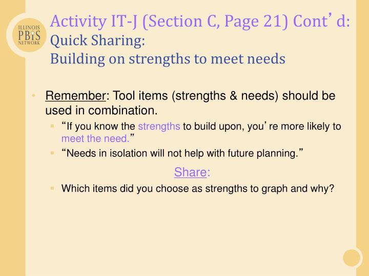 Activity IT-J (Section C, Page 21) Cont