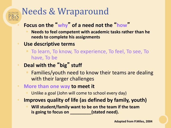 Needs & Wraparound