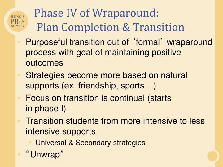 Phase IV of Wraparound: