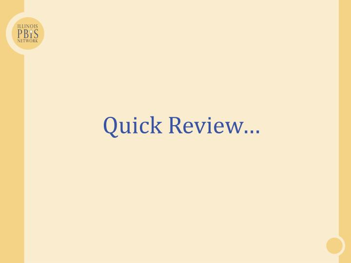 Quick Review…