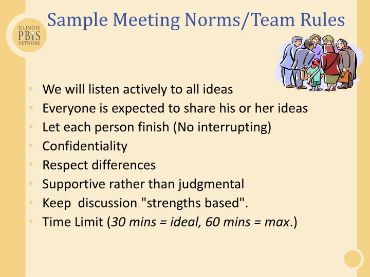Sample Meeting Norms/Team Rules