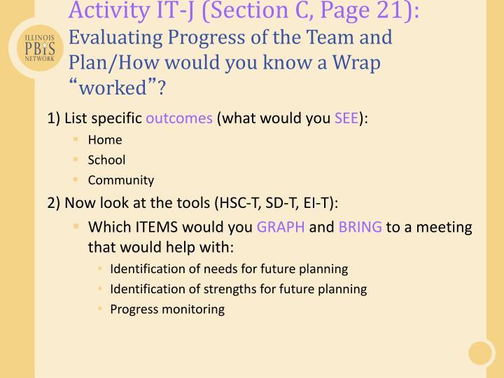 Activity IT-J (Section C, Page 21):